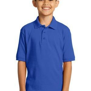 Youth Core Blend Jersey Knit Polo Thumbnail