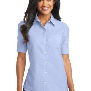 Ladies Short Sleeve SuperPro ™ Oxford Shirt Thumbnail