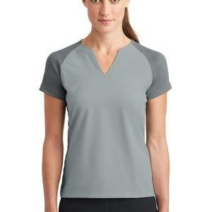 Ladies Dri FIT Stretch Woven V Neck Top Thumbnail